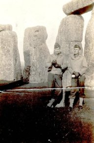 Ray Nance and Lt. Moore at Stonehenge